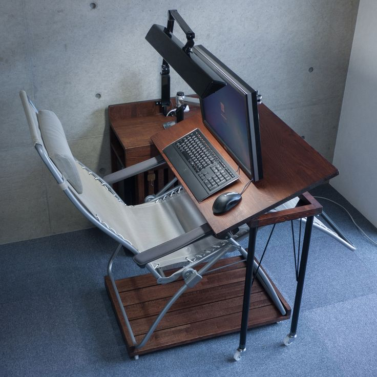 Ergonomic Chair Desk And Computer Setup Vintage Lawn Chairs Pc That Can Work On Recliner (keyboard Mouse) | Diy Crafts Desk, ...