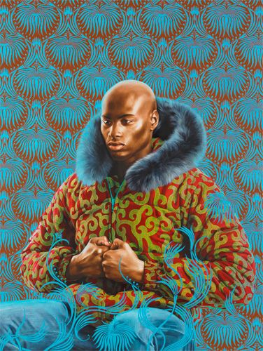 Kern Alexander Study I, 2011 By Kehinde Wiley. Love the way this artist paints portraits of urban men in classic scenes.