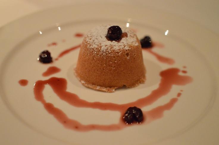 Baked shortcrust & custard pie w amarena cherries