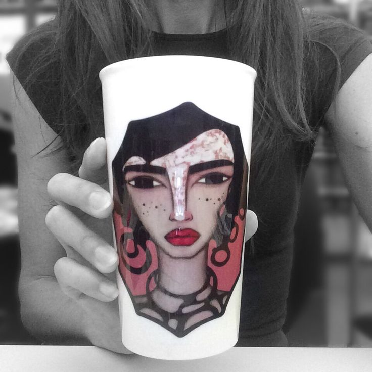SCARLETT CERAMIC TRAVEL MUG 💋 10% off and free shipping today! 😎 Available here... https://society6.com/product/scarlett-acrylic-on-wood-115-x-85_travel-mug#s6-3911345p46a59v436 #travelmugs #sandramucciardi