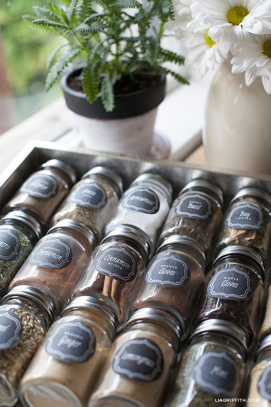 Herb and Spice Bottle Labels