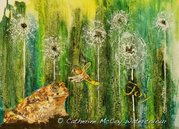 "Joy. Mixed Media 8"" x 10"" by Catherine McCoy"