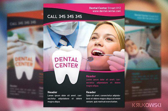 Dental Center Flyer by Krukowski Graphics on @creativemarket