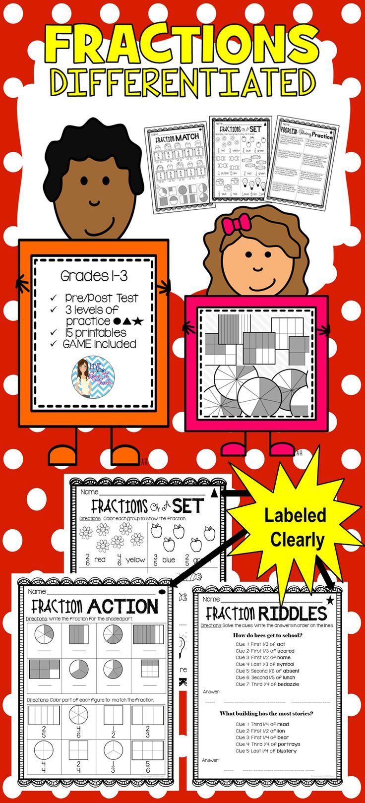 60 best fractions images on Pinterest   Math fractions, Fractions ...