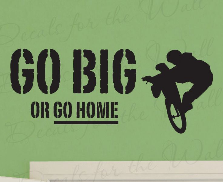Go+Big+or+Go+Home+Boy+Mountain+Bike+BMX+Biking+by+DecalsForTheWall,+$15.97