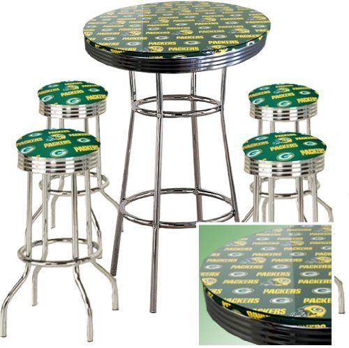 GREEN BAY PACKERS FOOTBALL Glass Top Chrome Bar Pub Table  : 4ef4dac7af3fd6b6d09fbf4a86bce229 pub table sets pub tables from www.pinterest.com size 500 x 499 jpeg 46kB