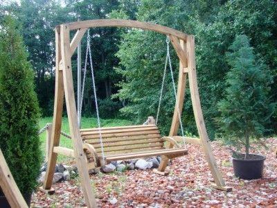 Garden swing and frame