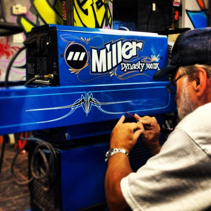 Miller Welder Stripe Job