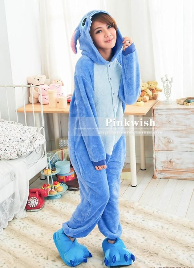 HOT Unisex Kigurumi Anime Cosplay Costume Pajamas Fancy dress Stitch Onesie | eBay