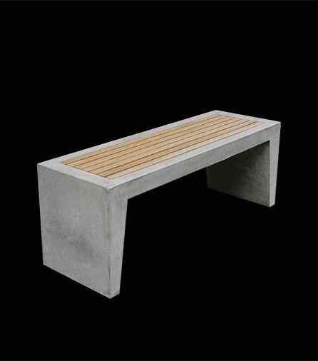 Concrete. Pilgårds bench - Skulpturfabrikens Webshop