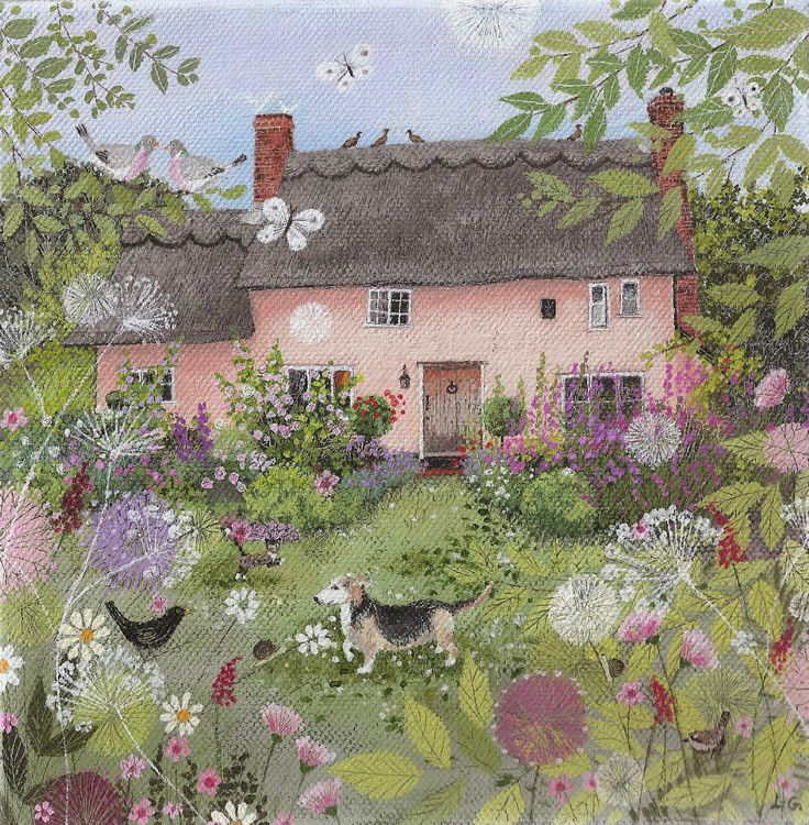 rose cottage in summer