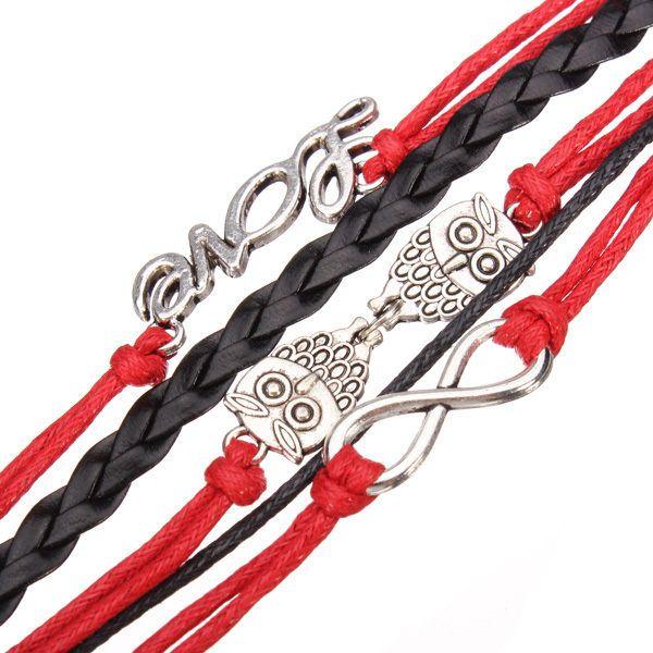 Owl Letter Multilayers Bracelet