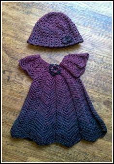 Fannysbuntewelt: Zickzack-Kleid und Mütze Gr. 74/80