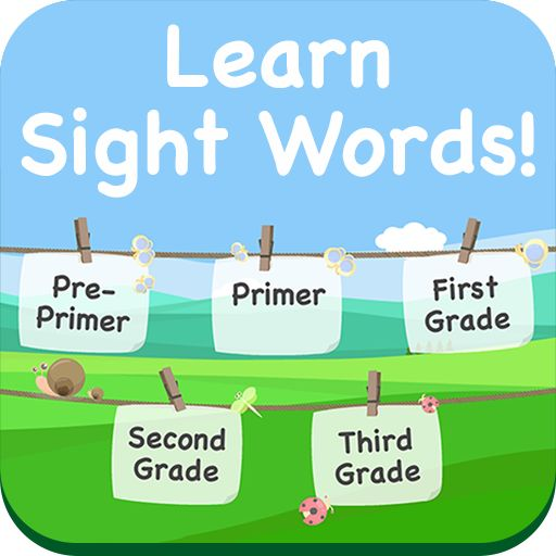 Sight Word Recognition is a great game for a child just beginning to learn sight words or that is having difficulty remembering certain sight words.  The game will show four random sight words and ask them to pick correct one.  They can study the same pre-primer, primer, first, second, third grade and noun lists they use in class.  Your child earns a point for each one they get right.  They need to complete all 7 levels to win. Available for Android or IOS.
