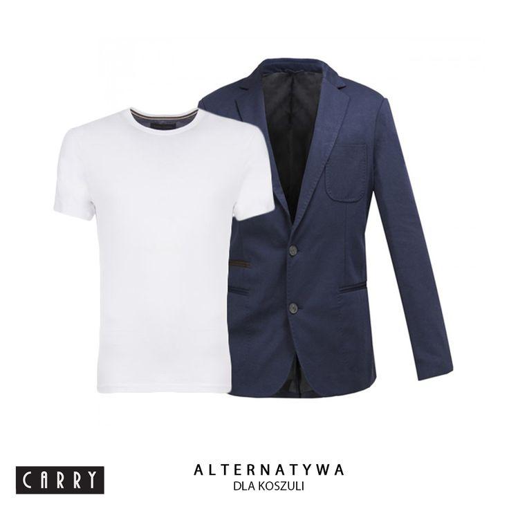 Panowie - polecamy!  #mensfashion #carryworld #white #tshirt #suit