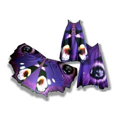 Сарафан, имитирующий крылья бабочки Павлиний глаз