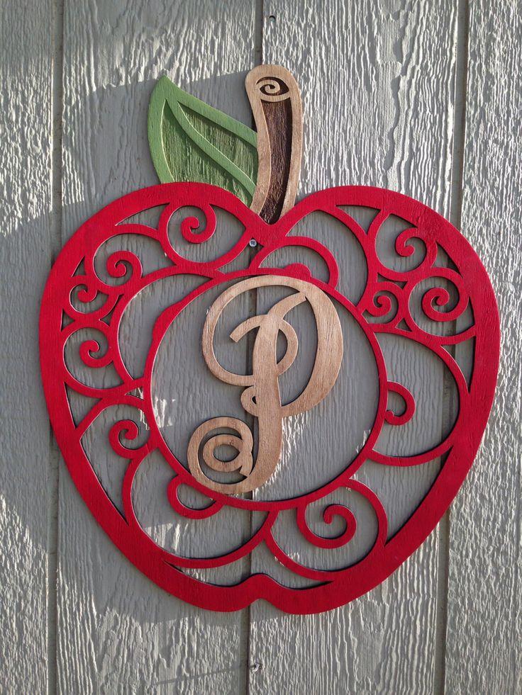 177 best Monogram Wooden Wreaths   Door Hangers images on - healthcare door hanger