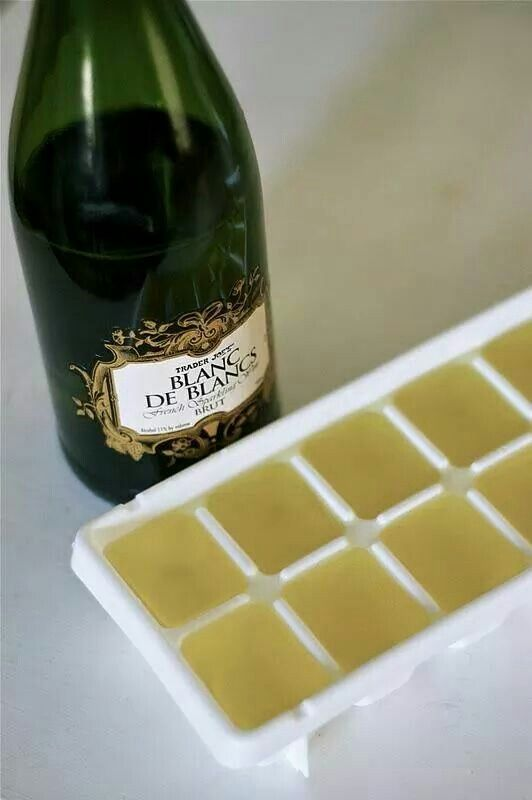 Champagne ice cubes for mimosas