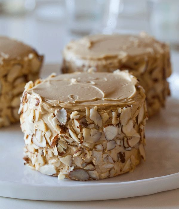 Little Sponge Cakes with Coffee Buttercream and Toasted Almonds   Fashion's Most Wanted