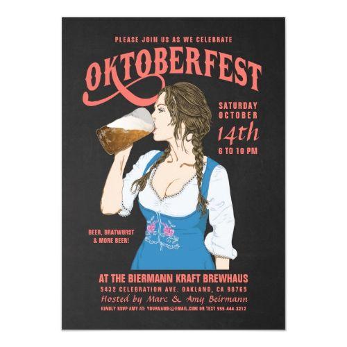 Oktoberfest Einladungen Oktoberfest Girl | Zazzle – OKTOBERFEST Personalized Gifts