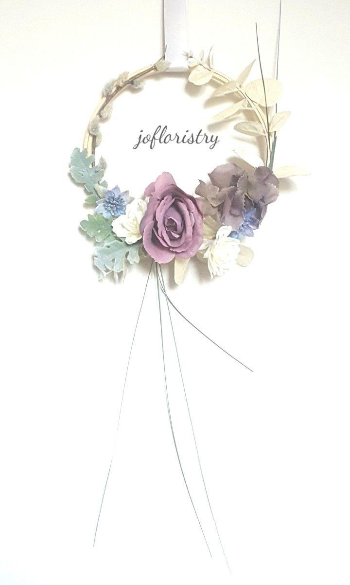 Lilac Ice Jofloristry Festive Silk Flower Indoor Hoop