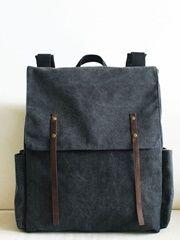 Custom Made Original Design 2015 New Causal Canvas Shoulder Bags Waterproof Black Canvas Backpacks Students School Bags Buy Online