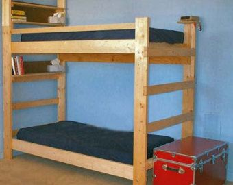 Heavy Duty Solid Wood Bunk Bed 1000 Lbs Wt. Capacity Twin Size Dorm XXL Long