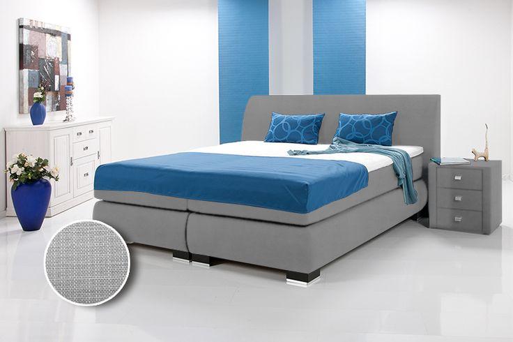 LUXUS Boxspringbett inkl. Kopfteil / Doppelbett / Einzelbett braun  180 x 200 | Kunstleder | braun | Härtegrad 4