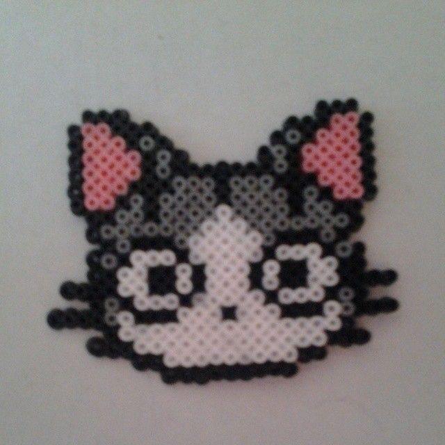 Cat hama beads by gisela_garcia