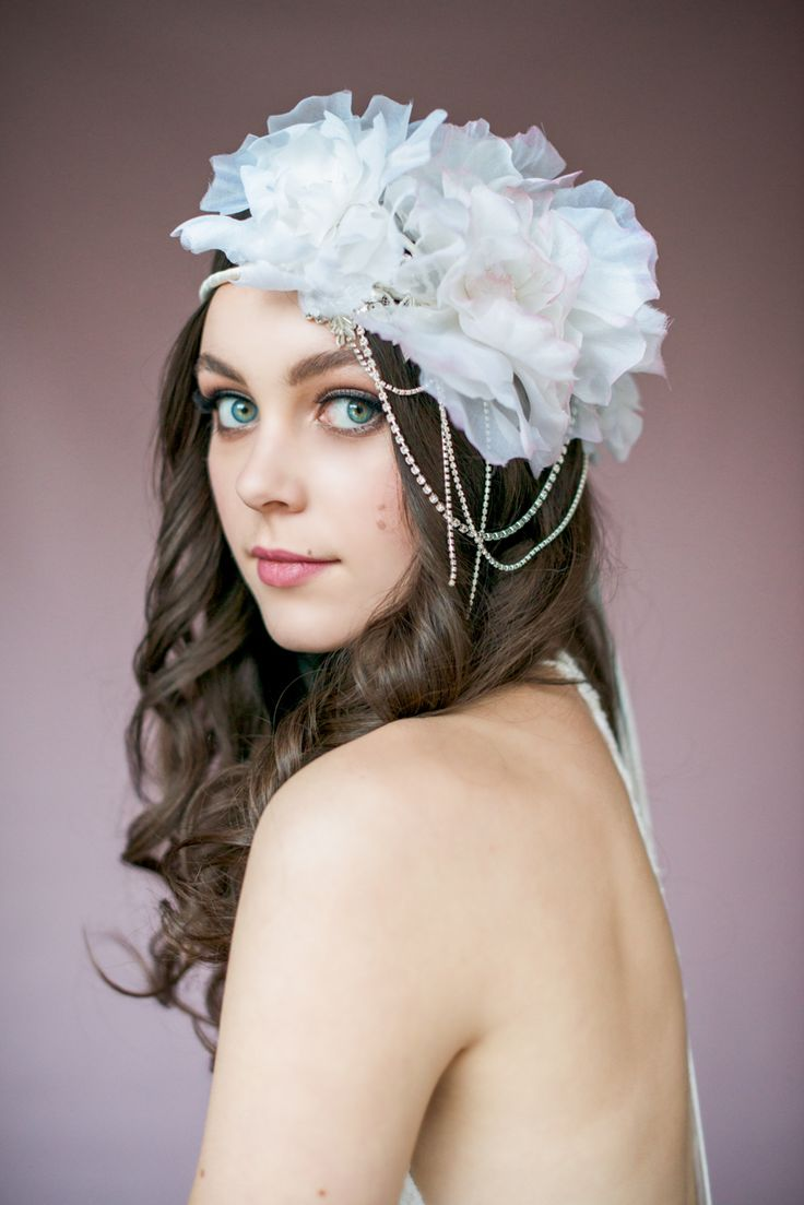 Swoon over jannie baltzer s wild nature bridal headpiece collection -  Amanda Floral Crown Blair Nadeau Millinery 2015 Collection Photography By Whitney Heard Photography Floral Crownsbridal Headpiecesbridal