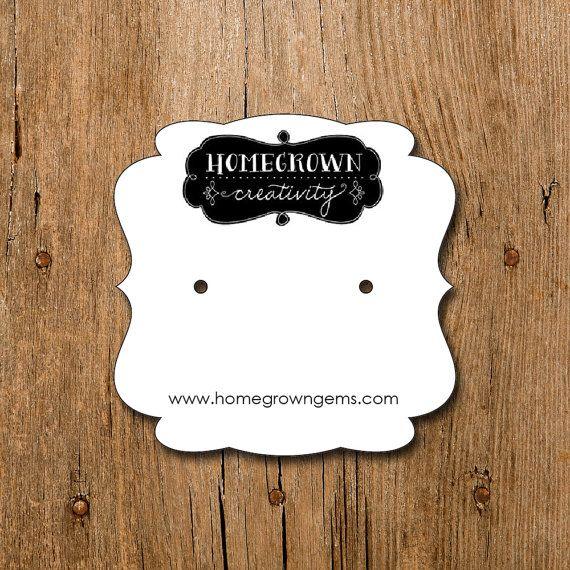 how to make custom earring cards