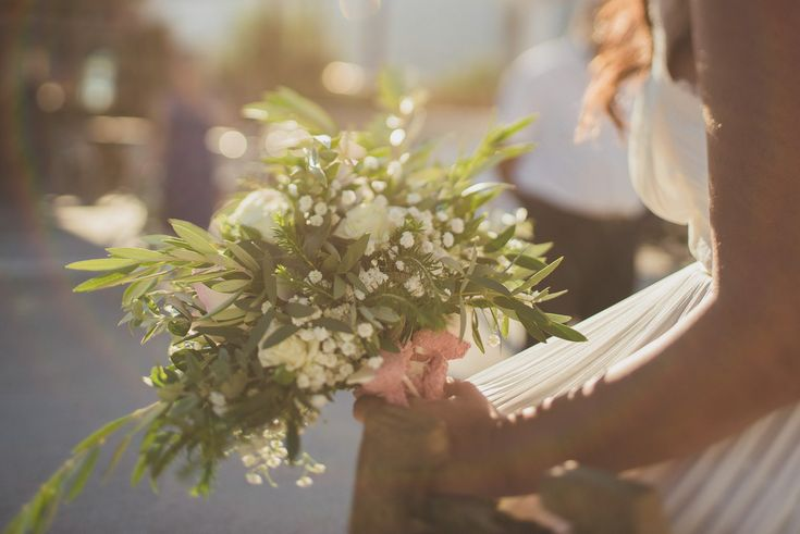 Jewish – Greek wedding on the beach in Chania Crete, Greece – love the light blog by Andreas Markakis Photography in Chania Crete Greece  Bridal bouquet