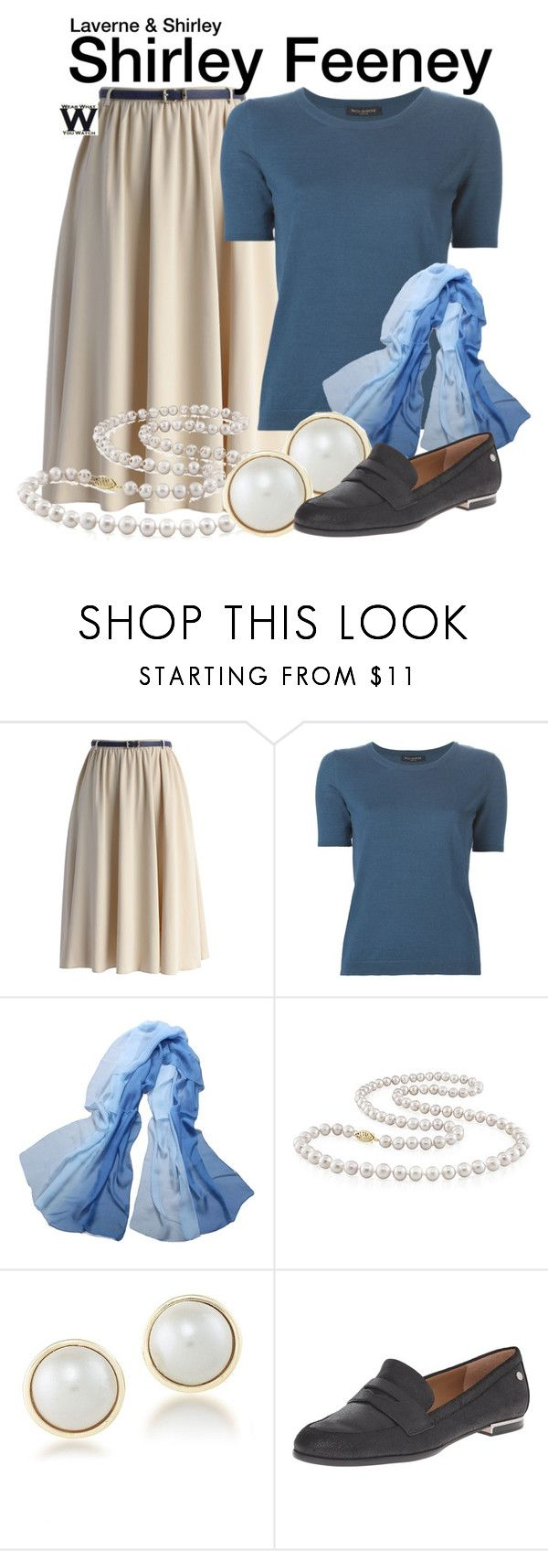 """""""Laverne & Shirley"""" by wearwhatyouwatch ❤ liked on Polyvore featuring Chicwish, Piazza Sempione, Miadora, Carolee, Calvin Klein, television and wearwhatyouwatch"""