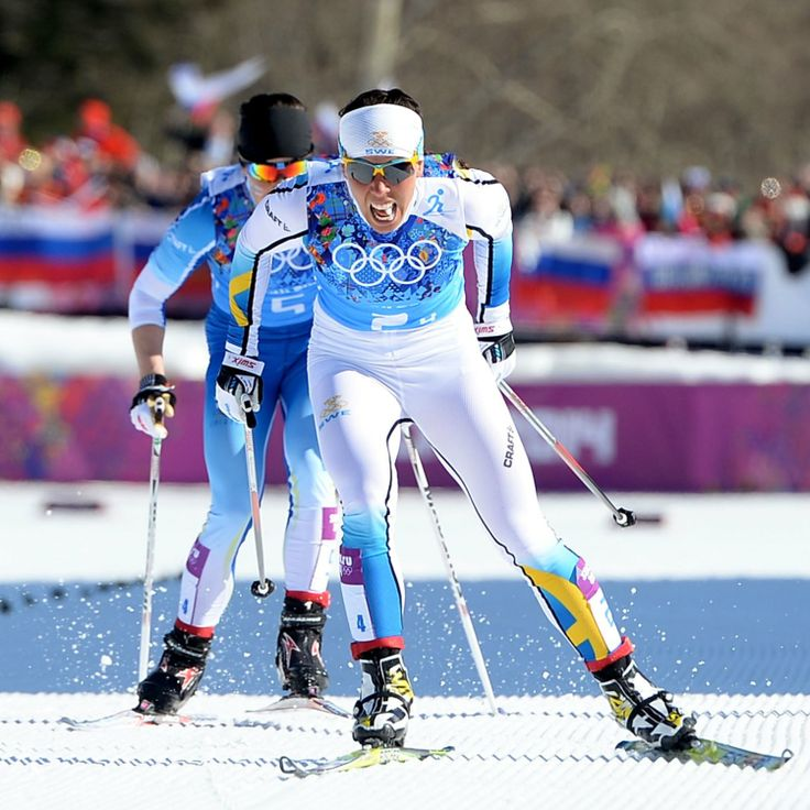 Charlotte Kalla in a great effort & a gutsy move takes gold in Sochi in the women's cross country ski relay. Well done Sweden.