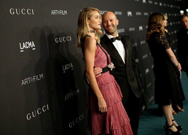 Pin for Later: Toutes Vos Célébrités Favorites Se Sont Rendues au Gala Art+Film de Los Angeles Rosie Huntington-Whiteley et Jason Statham