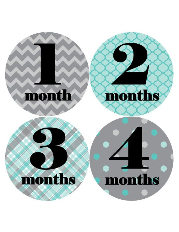 So cute for baby photos!!  Baby Month Sticker Monthly Stickers Baby by MonthsinMotion on Etsy, $8.99