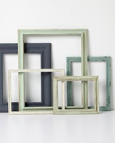 Vintage Frames | Step-by-Step | DIY Craft How To's and Instructions| Martha Stewart (Good idea for my pegboard screen).