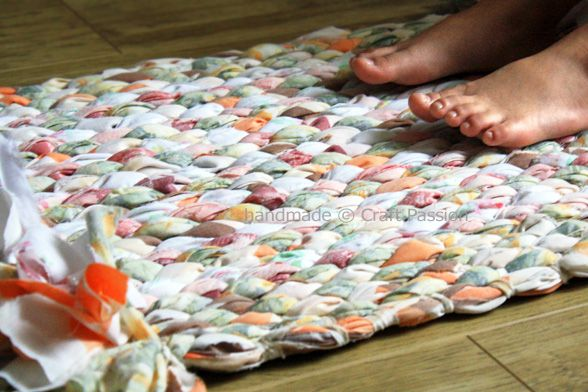 No-sew Rug-made from old sheets