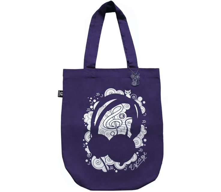 Canvas-bag Phones violet from Escape Wear