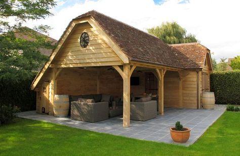 17 beste idee n over tuinhuizen op pinterest fee n tuin pottenbakloodsen en fee n tuinhuizen - Overdekt terras in hout ...