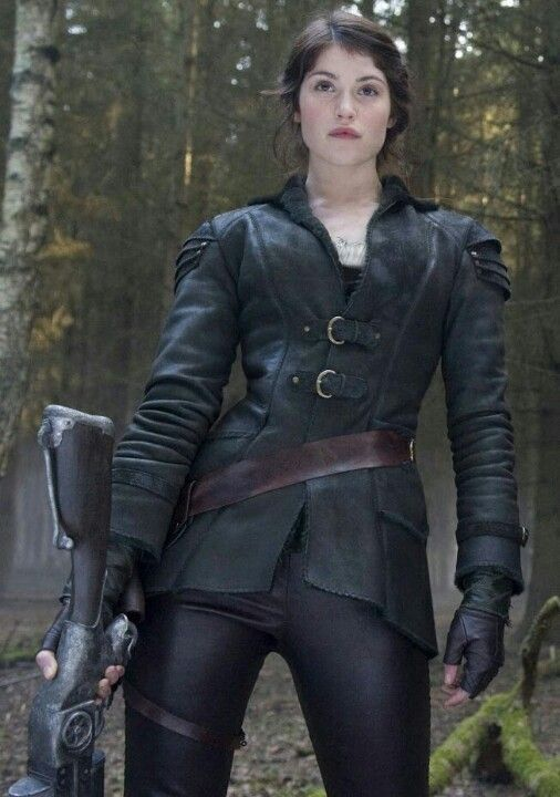 Gorgeous Gemma Arterton in her leather and latex costume from Hansel and Gretel Witch Hunters