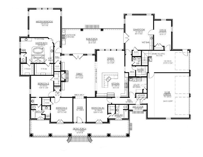 I Think I Found My Dream House Plan! Love The Master Bath Layout Nice!