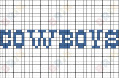 Dallas Cowboys Pixel Art  Brik Pixel Art Designs