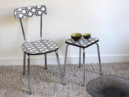 Les 20 meilleures id es de la cat gorie chaise formica sur for Papier peint sur meuble