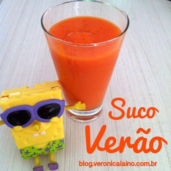 Suco de mamão com cenoura e biomassa de banana verde