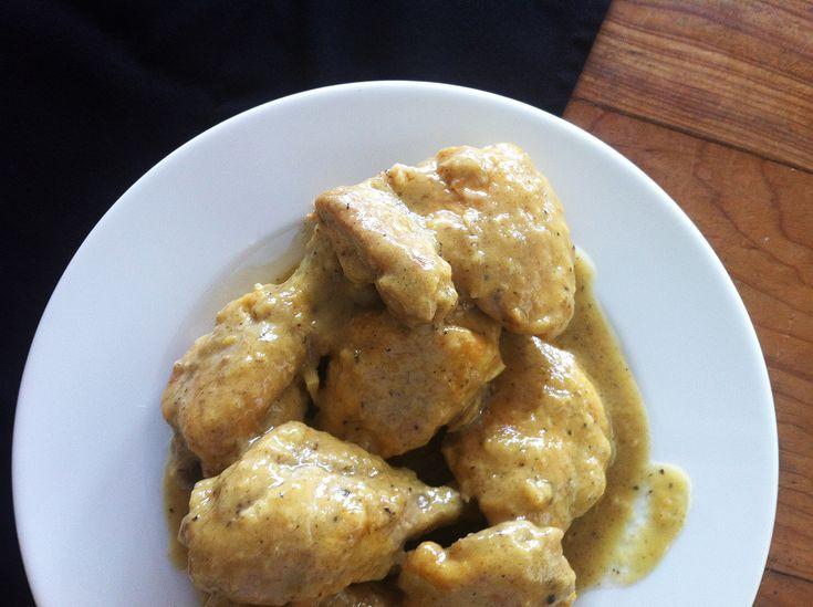 pollo con vino bianco (white wine chicken)