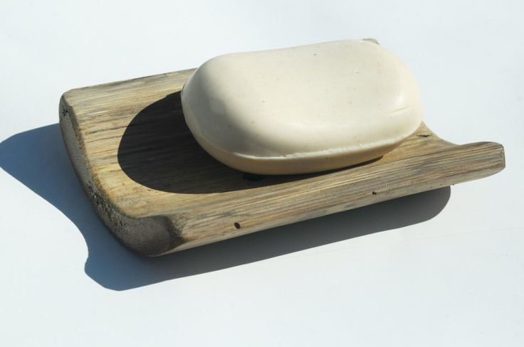 Large Bamboo Soap Dish, Reclaimed Wood Bath or Kitchen Soap Tray, Coastal Tropical Bathroom Home Decor. $5.50, via Etsy.