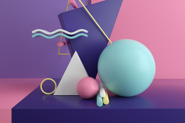 COL02 – Inspirational - zehnzehnsocks | ello    #abstract #shapes #3D