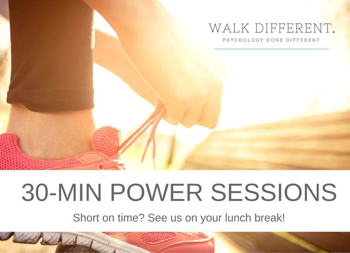 "Don't let time be your excuse in 2018! Book a power session uniquely designed and offered by Walk Different! We've been told it's the perfect ""tune up"" for those who are busy but still want to look after themselves 😉 Happy Mental Wellness Month!"