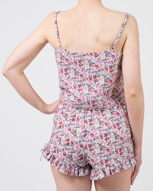 Plume Clothing. Sophia Top in Pink Floral Cotton Voile.